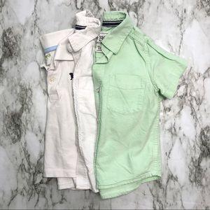 🎉Bundle baby boy button down polo tops